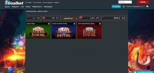 goalbet casino video poker lobby