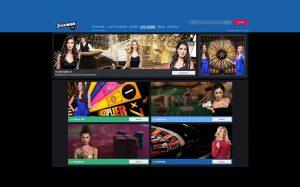 stoiximan live casino lobby