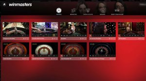 winmasters live casino roulette lobby